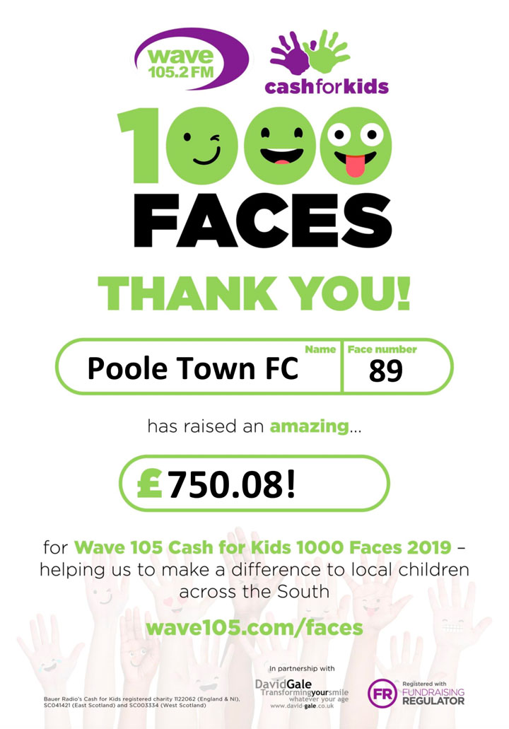 Money raised for 1000 faces certificate 2019